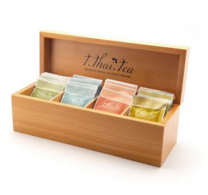 Small Tea set in wooden box