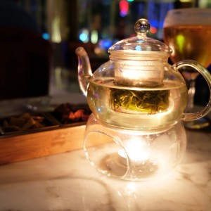 Glass Teapot and Warmer